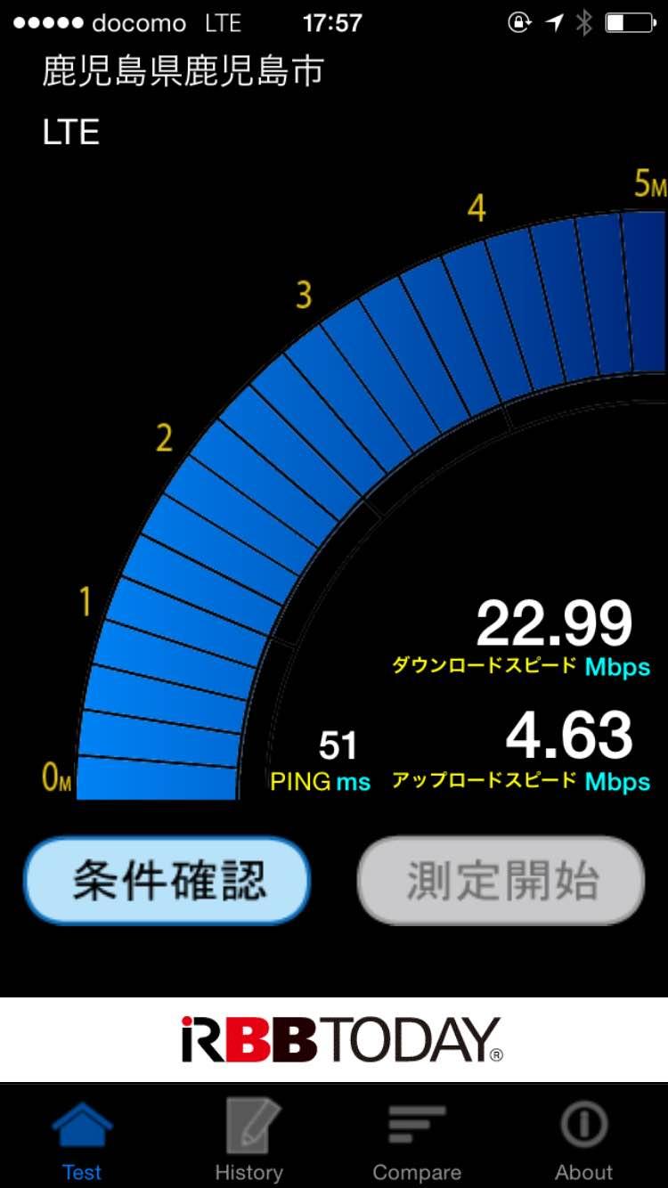 テスト ドコモ アプリ スピード