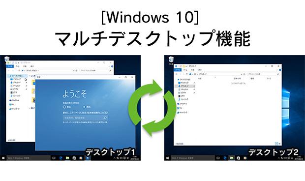 [Windows 10] マルチデスクトップ機能